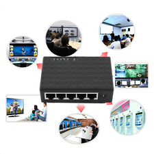 5 Port 1000 Mbps Desktop Ethernet Network LAN Power Adapter Switch Hub WA