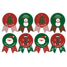 24X Seals Merry Christmas Badge Sticker Gift Wrapping Food Decor Envelope Seal