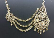 Beautiful bollywood LCT/WHITE  mathapatti costume jewellery