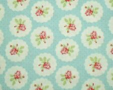 Tanya Whelan Cottage Shabby Chic Lulu Roses Lotti Rose Cameos PWTW094-Sky BTY