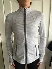Lululemon Size 2 Define Jacket GRAY WHITE WEE STRIPE WSNB Zip Up LS NWT Forme
