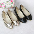 2015 Womens Casual Plaid Flats Glitter Ballet Ballerina Flats Slip On Soft Shoes