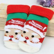 Winter Xmas Warm Baby Anti-slip Socks Child Cotton Blend Soft Floor Socks M  N