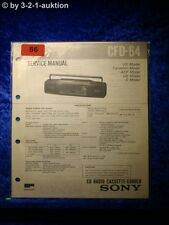Sony Service Manual CFD 64 Cassette Recorder (#0086)