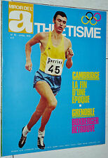 MIROIR ATHLETISME N°92 1972 POSTER PLACHY CROSS DOESSEGGER LE FLOHIC ROELANTS