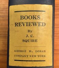 Vintage 1922 BOOKS REVIEWED By John Collings JC Squire GEORGE H DORAN