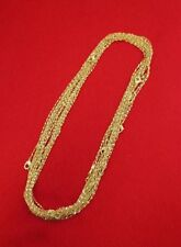 WHOLESALE LOT OF10 14KT GOLD PLATED 24 INCH 1mm TWISTED NUGGET CHAINS