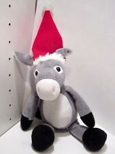 "KINDER SURPRISE DONKEY -Santa Hat -  10"" Doll  Plush Advertising Chocolate  EUC"