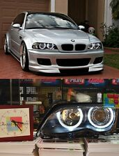 FARI ANTERIORI ANGEL EYES A LED  BMW SERIE 3 E46 BIANCHI 01 - 05 novita'