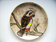 Keramik Wandteller Vogel 36cm Ruscha West-Germany Fat Lava era pottery vintage