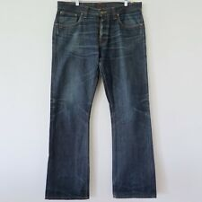 NUDIE MENS JEANS REGULAR RALF DRY RED SELVAGE DENIM NJ1118 W36 L34 MADE IN ITALY