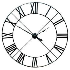 HUGE ! 110cm Extra Large Black Metal Wall Clock With Roman Numerals