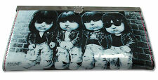 "RAMONES ""KIDS"" VINYL ACCORDIAN CLUTCH WALLET NEW OFFICIAL LADIES PUNK BAND"