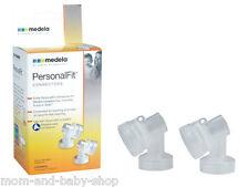 MEDELA BREASTPUMP BREASTSHIELD BREAST SHIELD CONNECTORS  x2 RETAIL #87071