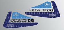 SUZUKI 1979 RM125 JT RACING USA WICKED TOUGH REPRODUCTION TANK DECALS GRAPHICS