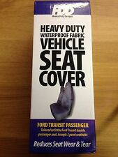 Heavy Duty Black New Ford Transit Protect Front Passenger Double Seat Cover #361