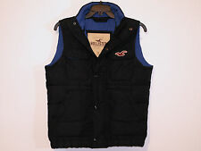men's HOLLISTER gilet body warmer navy size S small