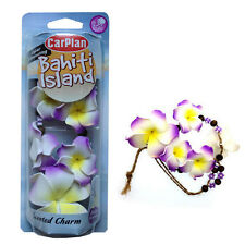 FLOWER NECKLACE CHARM AIR FRESHENER FRESHNER CAR HOME OFFICE - VANILLA
