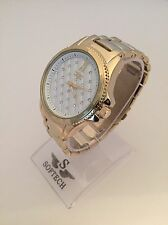 Gold Tone Diamante Ladies Watches Women Bracelet Softech Quartz Wrist Watch