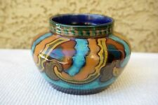 Gouda Holland Small Pot Vase Beautiful Art Deco Circa 1925