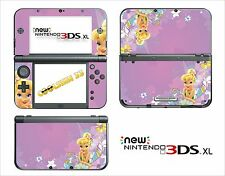 SKIN STICKER AUTOCOLLANT - NINTENDO NEW 3DS XL - REF 69 FEE CLOCHETTE