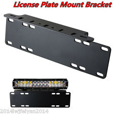 Heavy Duty Front Bumper License Plate Mount Bracket Holder For Fog/LED Light Bar