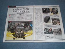 1979-'04 Mustang Tech Info Article on Replacing Rack-and-Pinion Steering