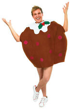 CHRISTMAS BROWN #PUDDING ADULT UNISEX OUFIT XMAS FOOD FANCY DRESS