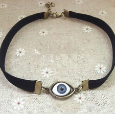GOTHIC EYEBALL EYE VICTORIAN CHOKER LADIES NECKLACE STEAMPUNK HALLOWEEN GOTH