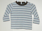 CARTER'S Boys Size 9 Months Blue Brown Striped Long Sleeve Shirt