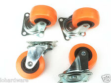 "4 PC 2-1/2"" POLY CASTOR WHEELS  -BRAND NEW"