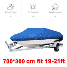 Waterproof Heavy Duty Speedboat Boat Cover Match Fish-Ski V-Hull 19 20 21FT
