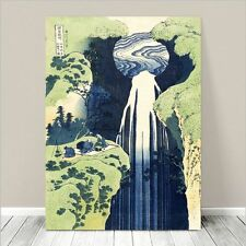 "Beautiful Japanese Art ~ CANVAS PRINT 8x12"" ~ Hokusai Amida Falls"