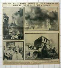 1915 Church Caught Fire After Bombing By Allied Airmen Karlsruhe