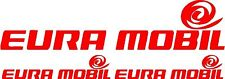 3 X EURA MOBIL CARAVAN/MOTORHOME  DECALS STICKERS CHOICE OF COLOURS FAST POSTAGE