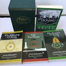 J R R Tolkien Lord Of the Rings Hobbit  Boxed Set 1997 Green Case HarperCollins