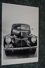 """12 By 18"""" Black & White Picture 1939 Ford Deluxe Front End Grill Shot"""