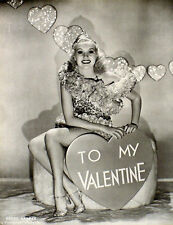 VINTAGE PIN-UP BETTY GRABLE TO MY VALENTINE & ANN CORIO 2-SIDED PHOTO GIFT ART