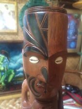 "NEW Maori Tattooed Tiki 14"" Tall bar not a mug Smokin Tikis n22"