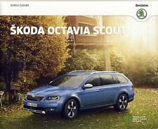 Skoda Octavia Scout 05 / 2015 catalogue brochure limitee