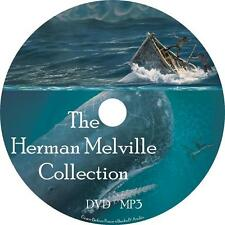 Herman Melville Audio Book Fiction Collection on 1 MP3 DVD Moby Dick Free Ship