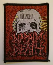 "Original Vintage Napalm Death Skull Barcode Patch Death Metal 3.75"" x 3"""