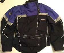 Fieldsheer Motorcycle Jacket Small Unisex Black Blue Padded Reflective Protectiv