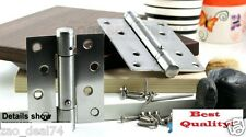 """8 Spring Door Hinge 4"""", self closing with 90 degrees stopper, square corner"""