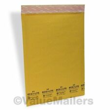 100 #2 KRAFT 8.5X12 ECOLITE BUBBLE MAILERS PADDED ENVELOPES, 100 9X12 CLEAR BAGS