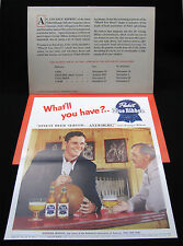 1950 Pabst Brewing George Mikan Advertising Mailer with Promotional Poster