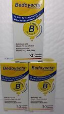 3 PACK OF BEDOYECTA  30 CAPS EA MULTIVITAMIN WITH FOLIC ACID AND VITAM.B12 02/18