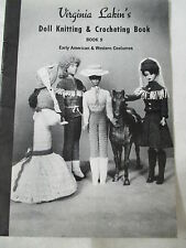Vintage 1969 Virginia Lakin Knitting Crochet Doll Clothes #9 Western Early Am