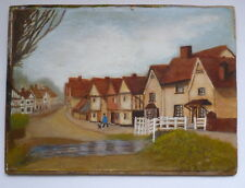AN OLD PAINTING OF KERSEY, SUFFOLK