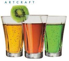 TRUVA CLEAR Glass 90ml 90cc 3 1/4oz Shot Glass -SET OF 6 GLASSES- Deluxe glasses